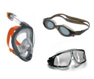 Очки, маски и аксессуары для плавания