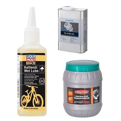 Средства для чистки и смазки велосипедов