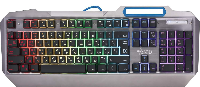Игровая клавиатура Defender Wizard GK-230DL Grey (45230), купить в Москве, цены в интернет-магазинах на goods.ru