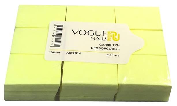 Купить безворсовые салфетки Vogue Nails Желтые 1000 шт, цены в Москве на goods.ru