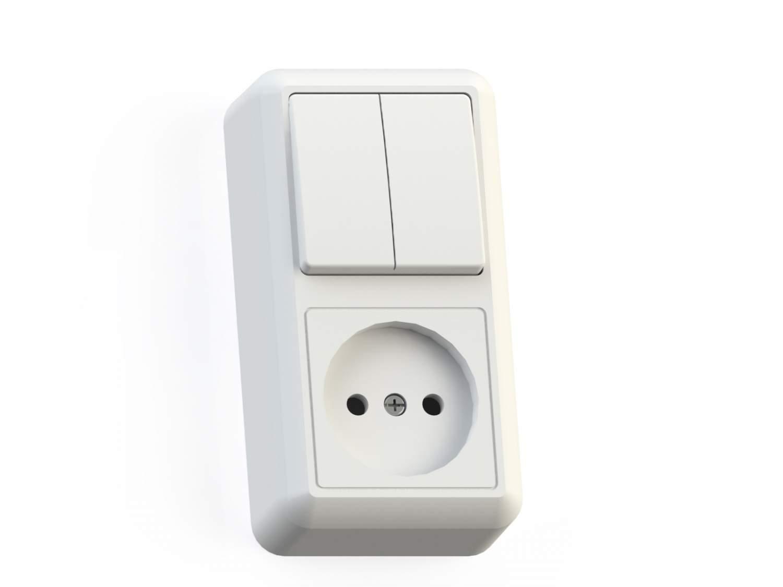 Выключатель с сетевой розеткой Кунцево-Электро Оптима БКВР-404 - купить в Москве - sbermegamarket.ru