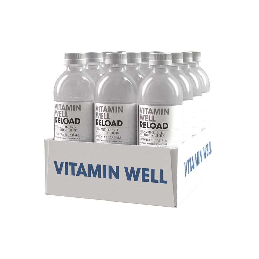 Напиток Vitamin Well Reload Лимон и лайм 12 шт по 500 мл