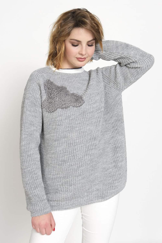 Джемпер женский Злата М 2472 серый 48 RU - купить в Москве - goods.ru