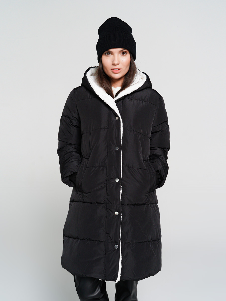 Пуховик-пальто женский ТВОЕ A6556 черный M, купить в Москве, цены в интернет-магазинах на goods.ru