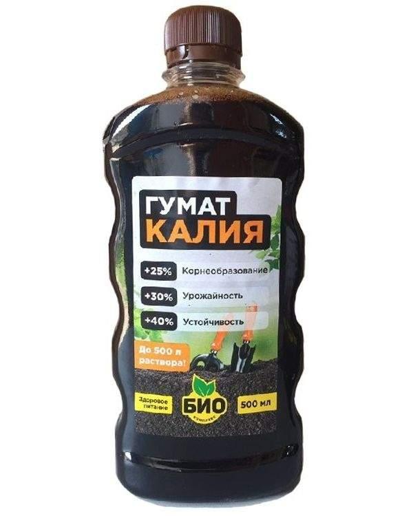 Минеральное удобрение комплексное БИО-комплекс Гумат калия 0,5 л купить, цены в Москве на sbermegamarket.ru