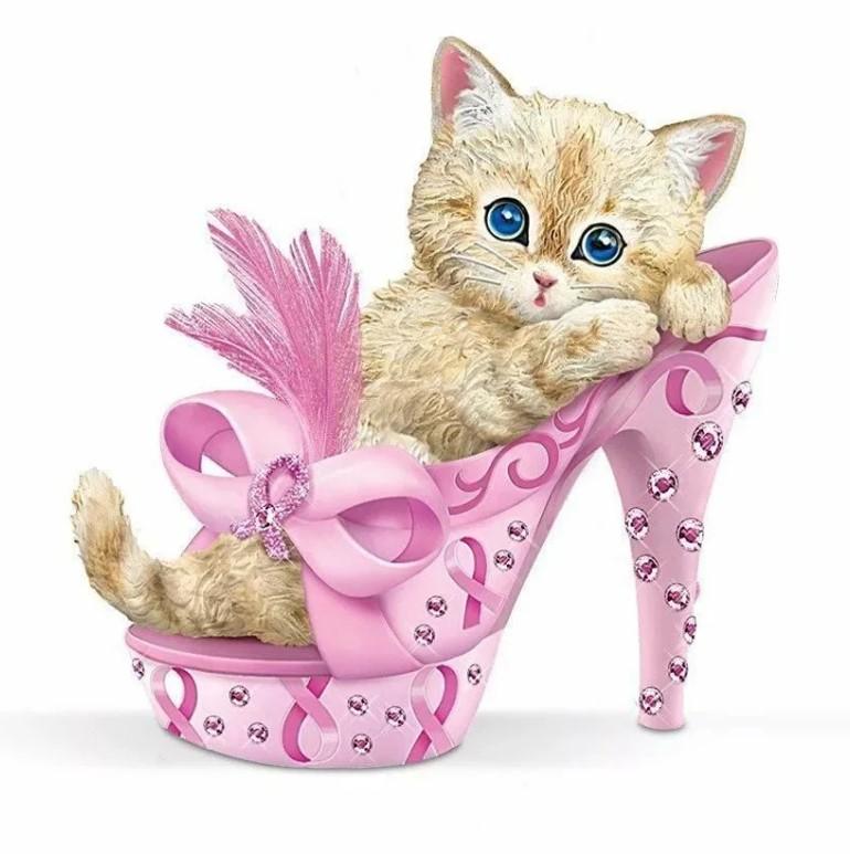 картинка с днем рождения котенок в туфельках будет