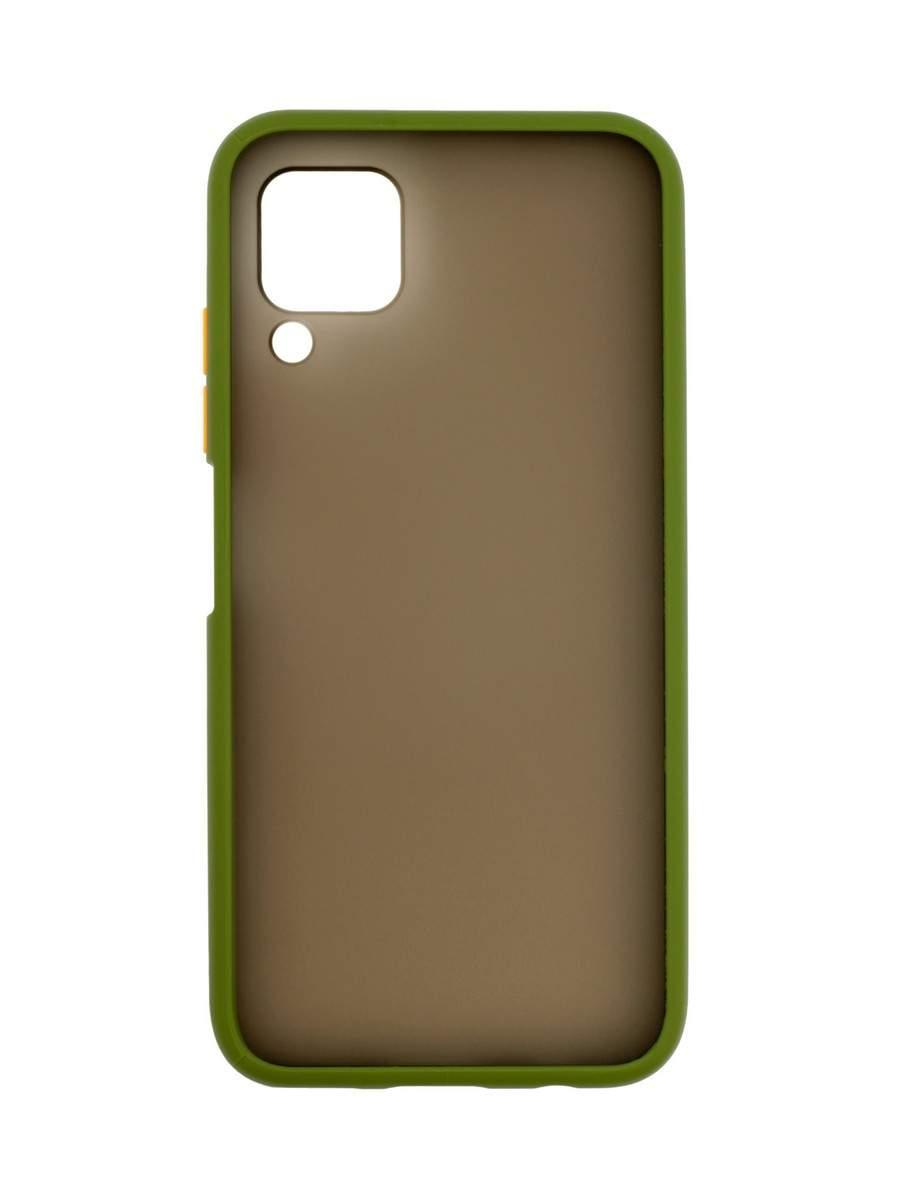 Чехол Zibelino Plastic Matte для Huawei P40 Lite/Nova 6 SE (оливковая окантовка), купить в Москве, цены в интернет-магазинах на goods.ru