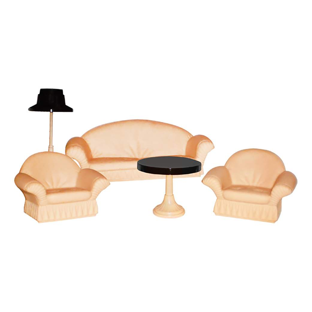 Купить коллекция для гостиной комнаты для кукольного дома Огонек, цены в Москве на goods.ru