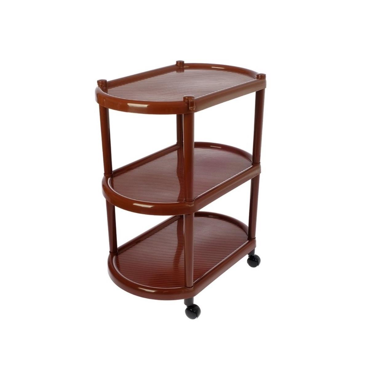 Купить этажерка Полимербыт 63210510 50х30х58 см, коричневый, цены в Москве на goods.ru