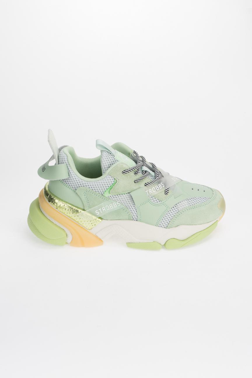 Купить кроссовки женские Strobbs F7087 зеленые 39 RU, цены в Москве на sbermegamarket.ru | Артикул: 100028411715