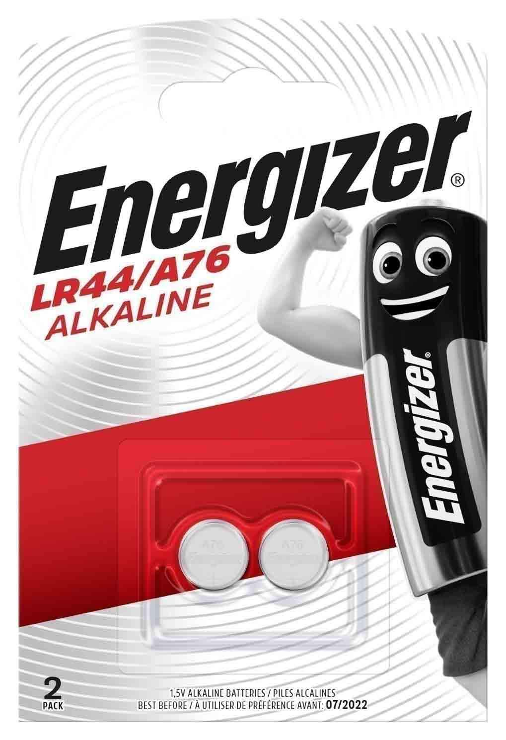 Батарейка Energizer Alkaline LR44/A76 1,5V 2 шт, купить в Москве, цены в интернет-магазинах на goods.ru