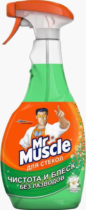 Чистящее средство для стекол Mr.Muscle утренняя роса 500 мл купить, цены в Москве на goods.ru
