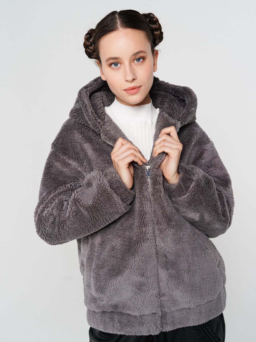 Купить куртка женская ТВОЕ A6551 серая XL, цены в Москве на goods.ru