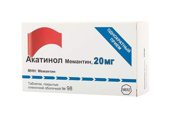 Купить акатинол Мемантин таблетки, покрытые пленочной оболочкой 20 мг №98, цены в Москве на goods.ru