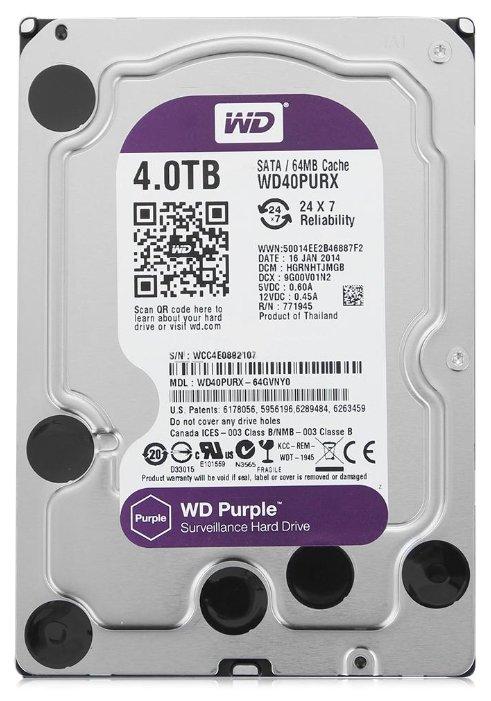 Жесткий диск Western Digital WD Purple 4 TB (WD40PURX), купить в Москве, цены в интернет-магазинах на goods.ru