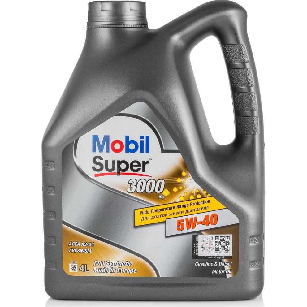 Моторное масло Mobil Super 3000 X1 5W-40 4л - характеристики, техническое описание - маркетплейс goods