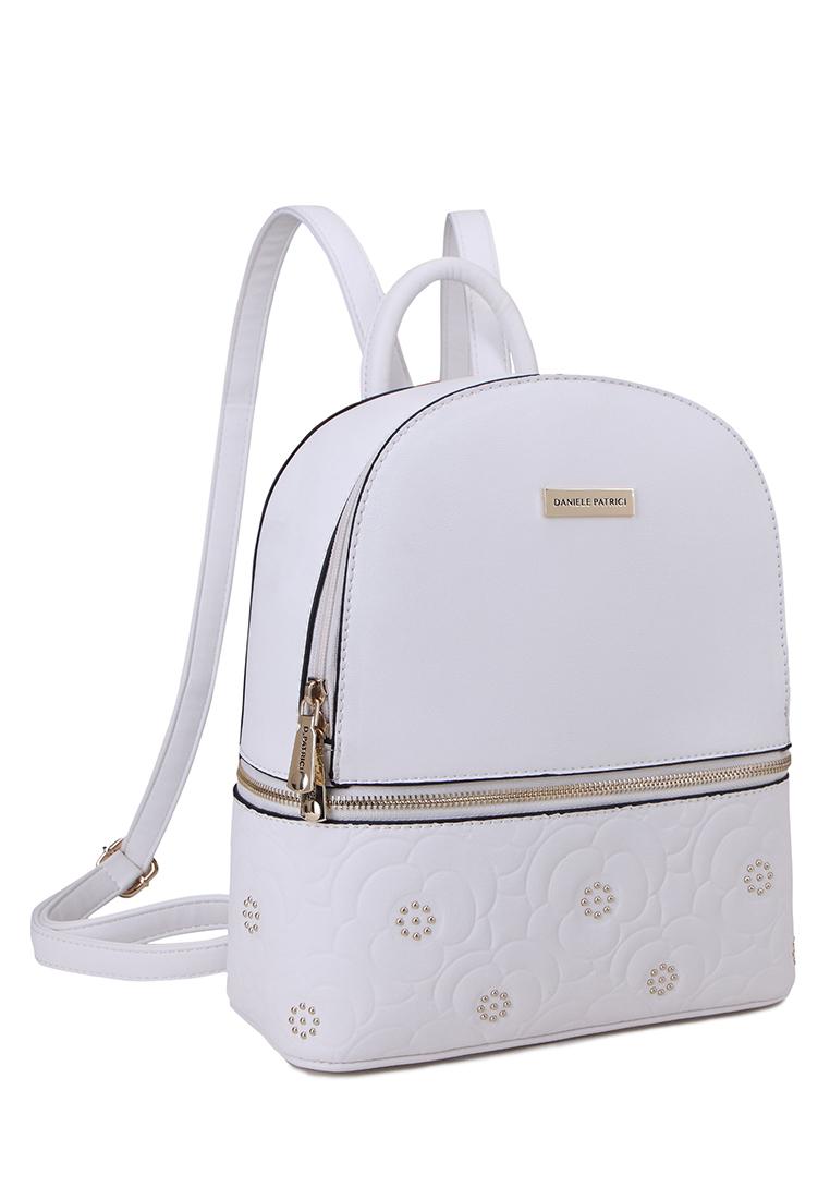 Купить рюкзак женский Daniele Patrici 10606570 белый, цены в Москве на goods.ru
