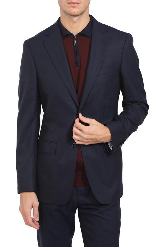 Купить пиджак мужской Kanzler 19W-SBB1/BL1-1/N/1 синий 50 RU, цены в Москве на goods.ru