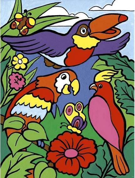 """Купить раскраска по номерам для малышей """"Птицы"""", цены в ..."""