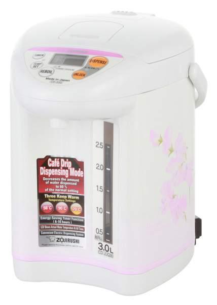 Термопот Zojirushi CD-JUQ30 FS White\Pink - характеристики, техническое описание - маркетплейс goods
