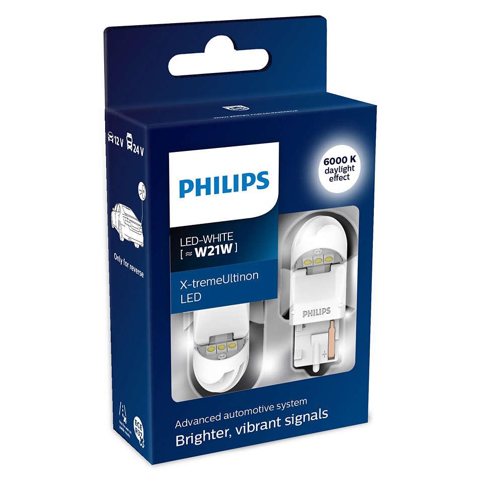 Купить w21w 12v Лампа X-Treme Ultinon Led White 6000k, 2шт. Philips арт. 11065XUWX2, цены в Москве на sbermegamarket.ru   Артикул: 100026001004