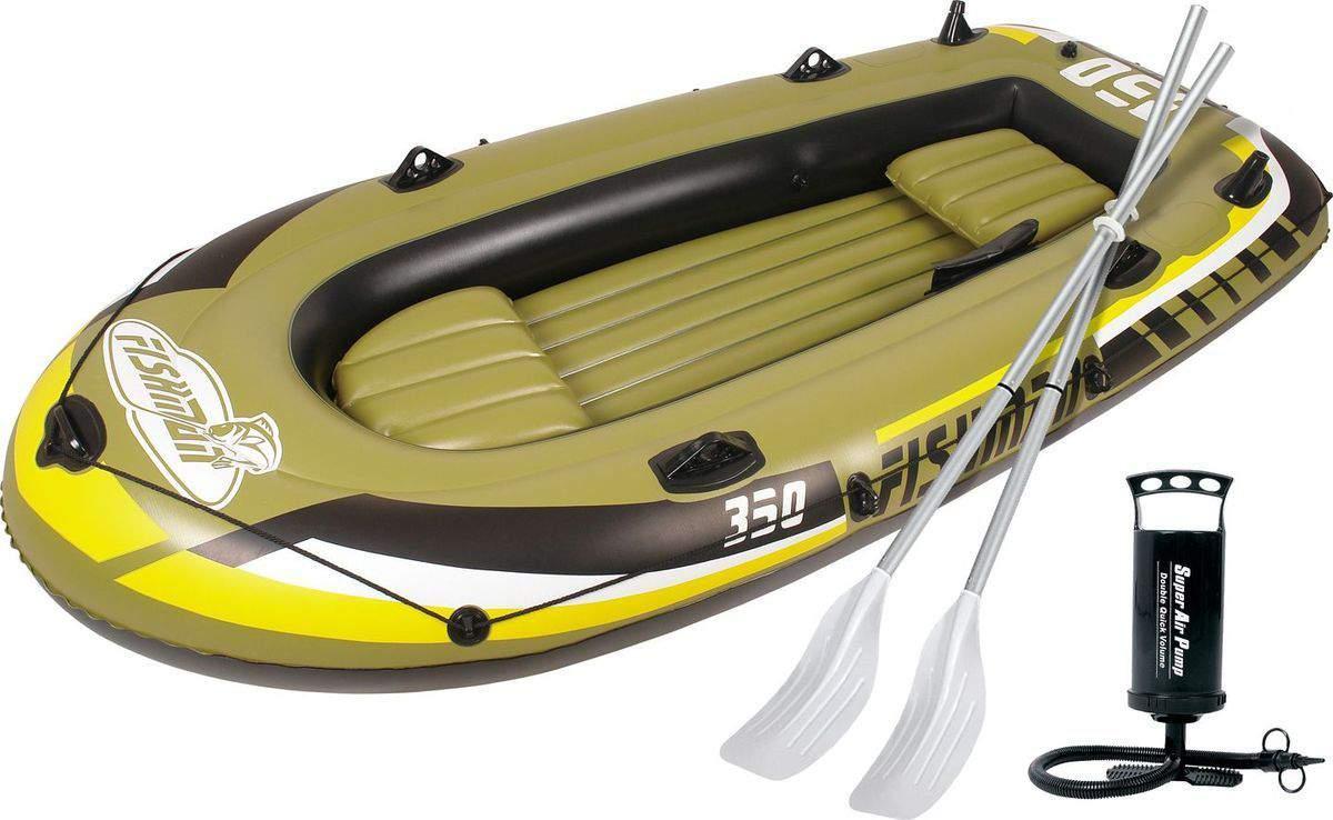 Лодка Jilong Fishman 350 SET 3,05 x 1,36 м green купить, цены в Москве на sbermegamarket.ru