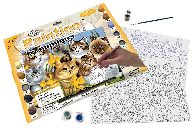 """Купить раскраска по номерам Royal & Langnickel """"Кошки ..."""