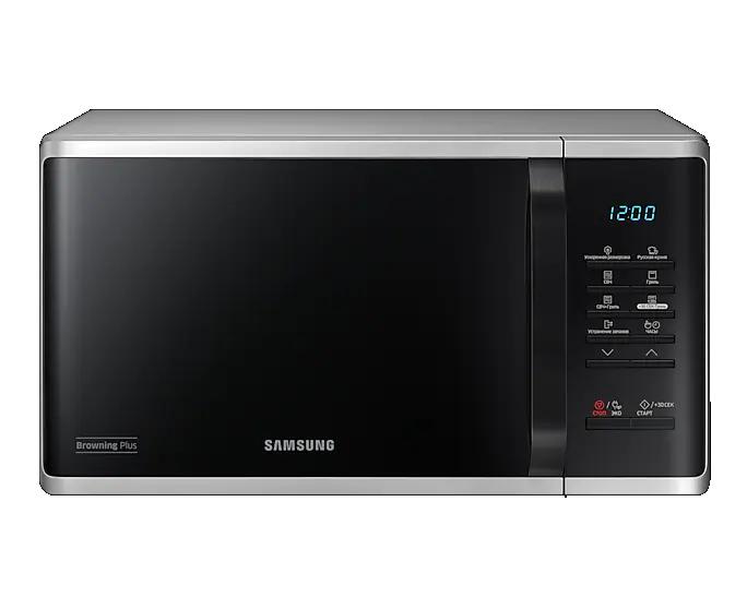 Микроволновая печь с грилем Samsung MG23K3513AS/BW silver, купить в Москве, цены в интернет-магазинах на sbermegamarket.ru