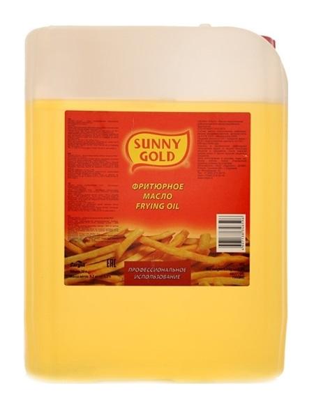 Купить масло Sunny Gold фритюрное подсолнечное рафинированное дезодорированное 10 л, цены в Москве на goods.ru