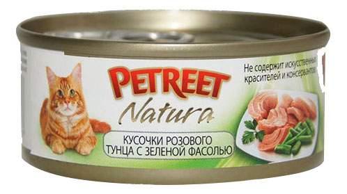 Купить консервы для кошек Petreet Natura, тунец с зеленой фасолью, 70г, цены в Москве на sbermegamarket.ru | Артикул: 100016182712