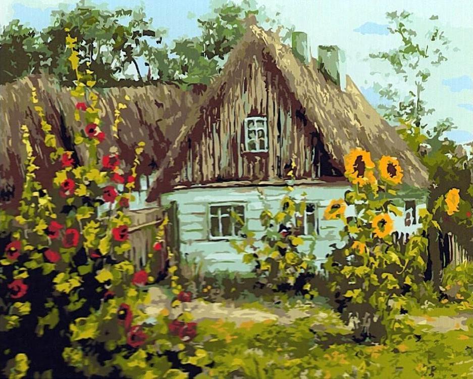 Сельский домик картинки