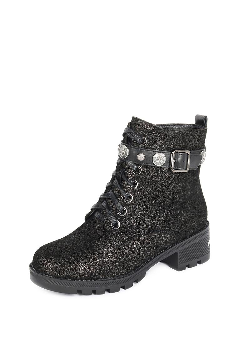 Купить ботинки женские Alessio Nesca 710018614 черные/серебристые 40 RU, цены в Москве на goods.ru