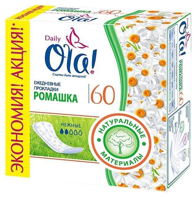Купить прокладки Ola! Daily Ромашка ежедневные 60 шт, цены в Москве на goods.ru