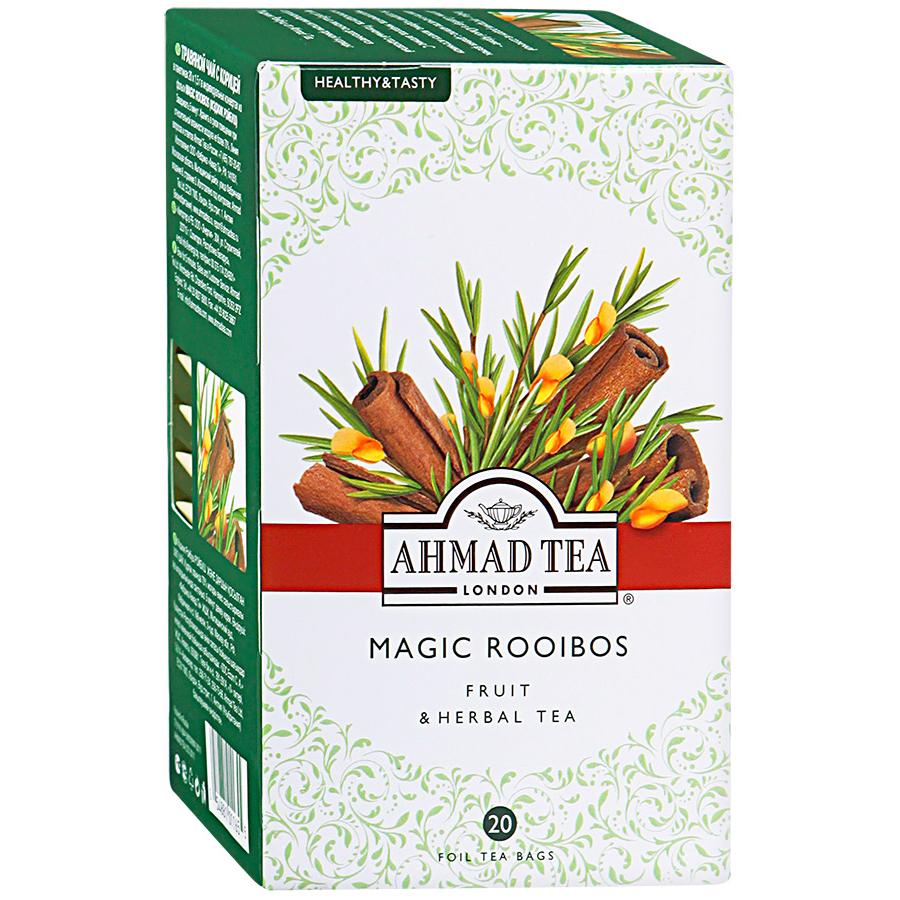 Купить чай травяной Ahmad Tea magic rooibos 20 пакетиков, цены в Москве на goods.ru