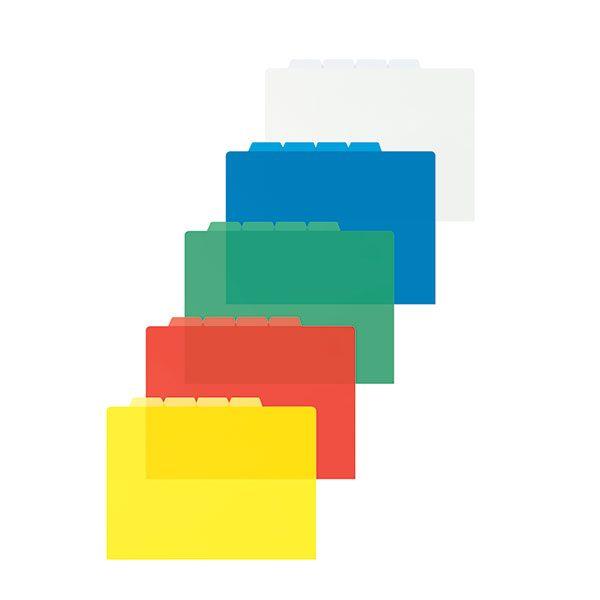 Папка-уголок inФОРМАТ А4 прозрачный пластик 4 отделения