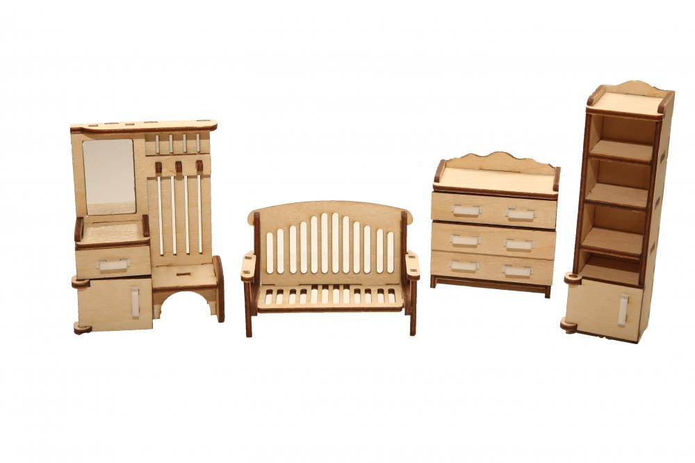 Купить мебель для кукольного домика ХэппиДом Прихожая из дерева, цены в Москве на goods.ru