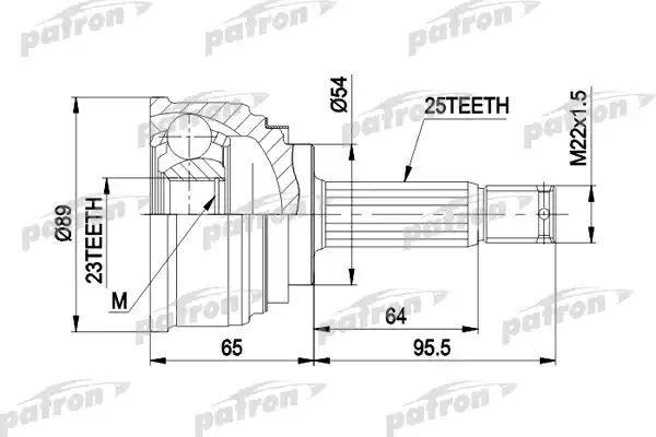 Купить шрус PATRON PCV1148, цены в Москве на goods.ru