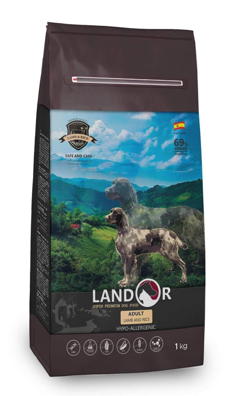 Купить сухой корм для собак Landor Adult, все породы, ягненок и рис, 1кг, цены в Москве на sbermegamarket.ru | Артикул: 600000060927