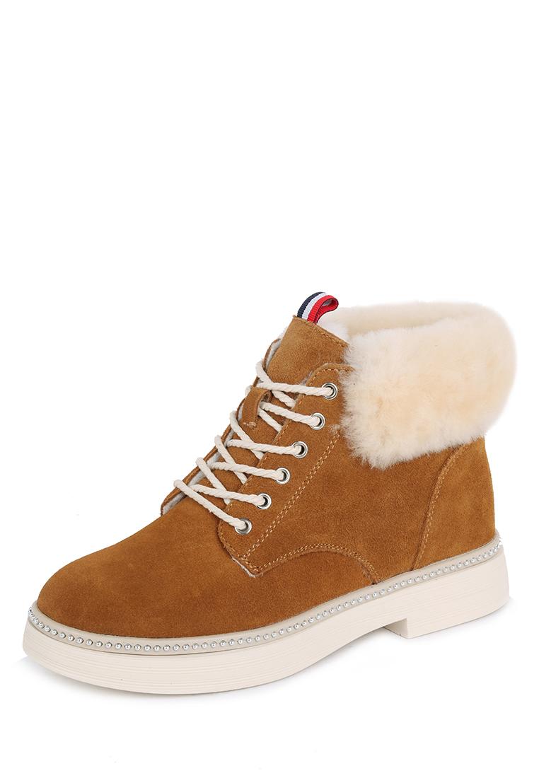 Купить ботинки женские Alessio Nesca 710018610 коричневые 41 RU, цены в Москве на goods.ru