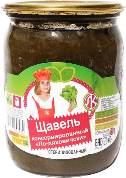 Купить щавель Ляховичи консервированный 490 г, цены в Москве на goods.ru