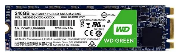 Внутренний SSD накопитель Western Digital Green 240GB (WDS240G1G0B), купить в Москве, цены в интернет-магазинах на goods.ru