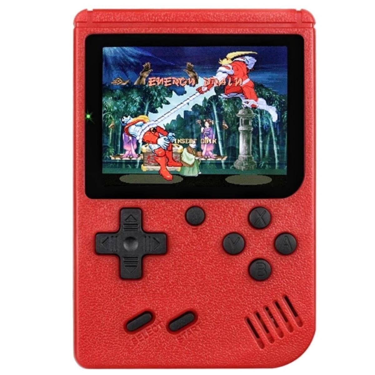 Портативная консоль QVATRA Game Box Plus 400 in 1 Red, купить в Москве, цены в интернет-магазинах на sbermegamarket.ru