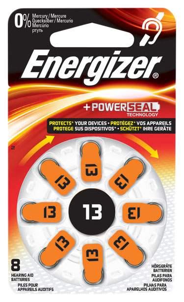 Батарейка Energizer Hearing Zinc Air 13 DP-8 8 шт, купить в Москве, цены в интернет-магазинах на goods.ru