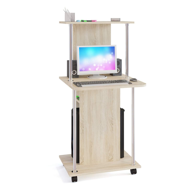 Компьютерный стол СОКОЛ КСТ-12 1373048, дуб сонома купить, цены в Москве на sbermegamarket.ru