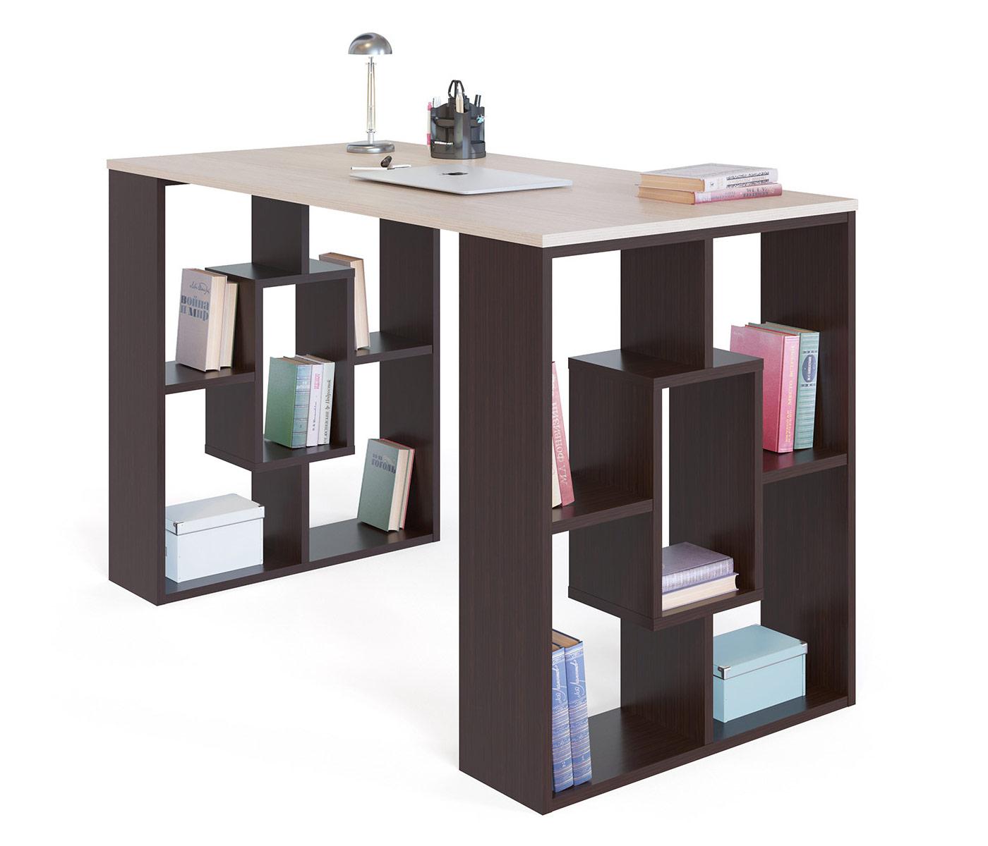 Письменный стол СОКОЛ СПМ-15 1373049, венге/белёный дуб - купить в Москве - goods.ru