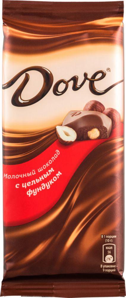 Купить шоколад молочный Dove с цельным фундуком 90 г, цены в Москве на sbermegamarket.ru | Артикул: 100023331747