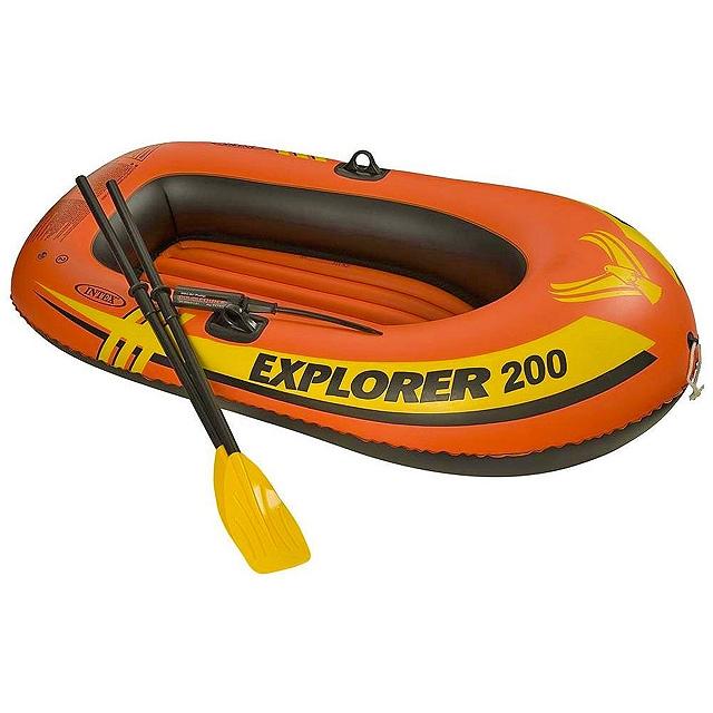 Лодка Intex Explorer 200 Set 1,85 x 0,94 м orange купить, цены в Москве на goods.ru