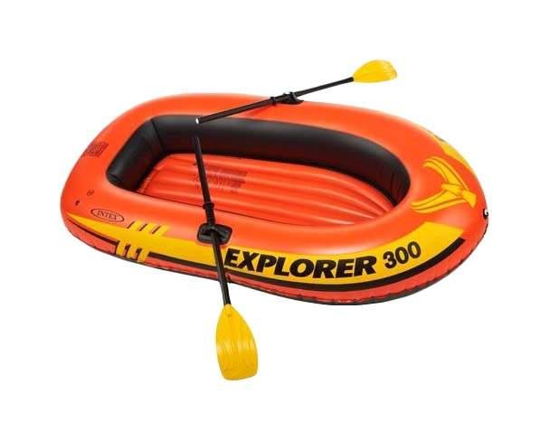 Лодка Intex Explorer 300 Set 2,11 x 1,17 м orange купить, цены в Москве на goods.ru