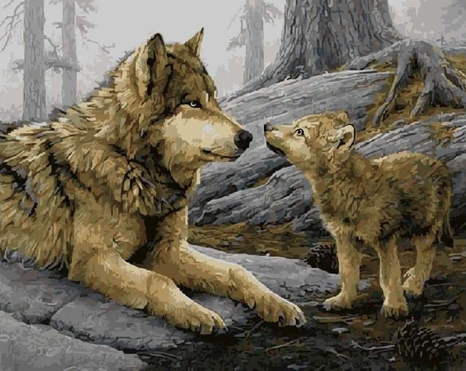 картинки волк и волчонок это ожидание что