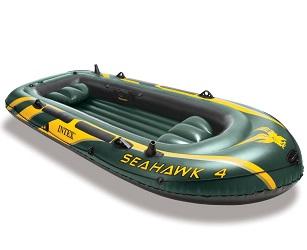 Лодка Intex Seahawk 4 3,5 x 1,45 м green купить, цены в Москве на goods.ru